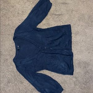 Navy blue cardigan or sweater